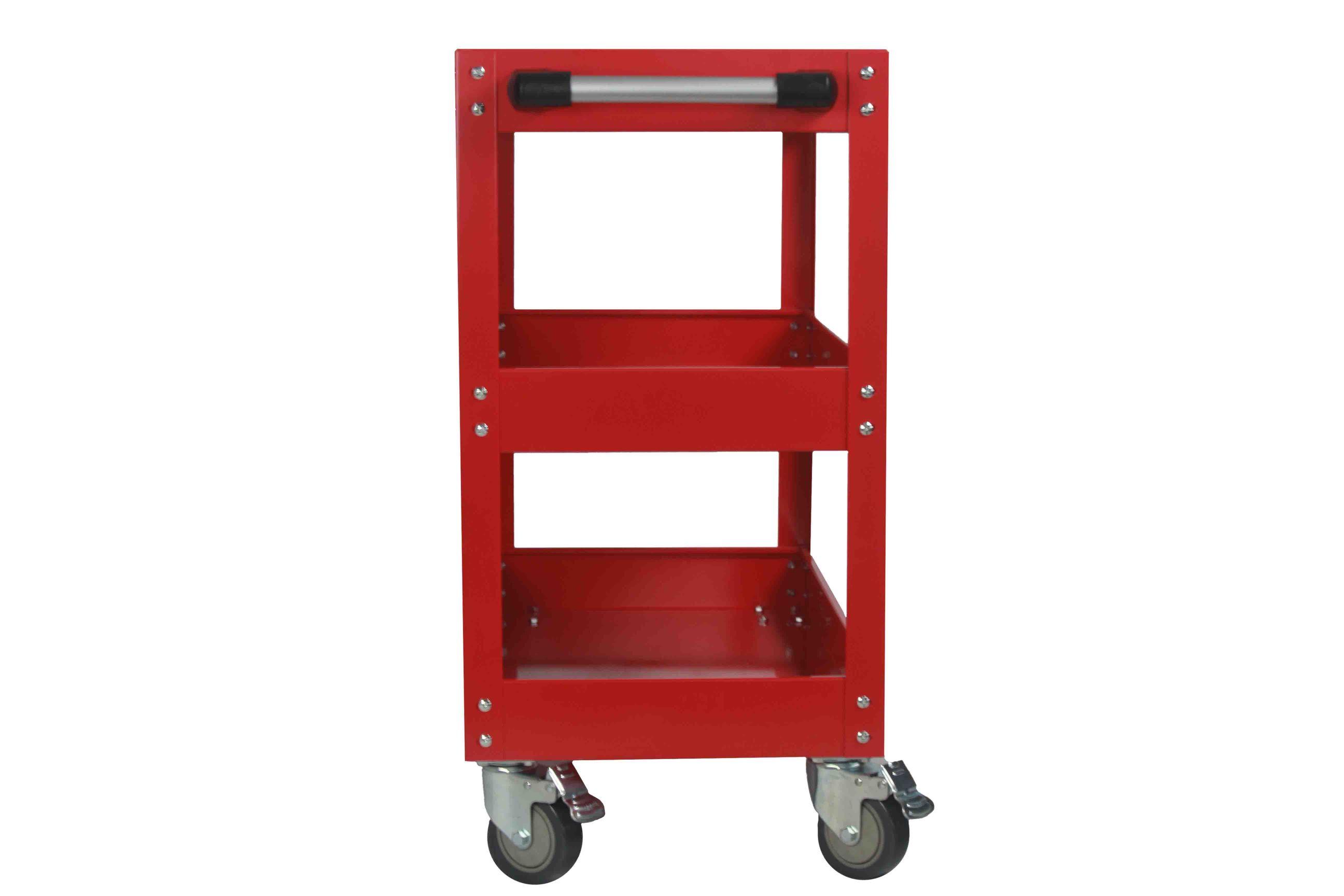 New ESSupplier Bigger & Wider Tool Trolley Cart Storage  Red