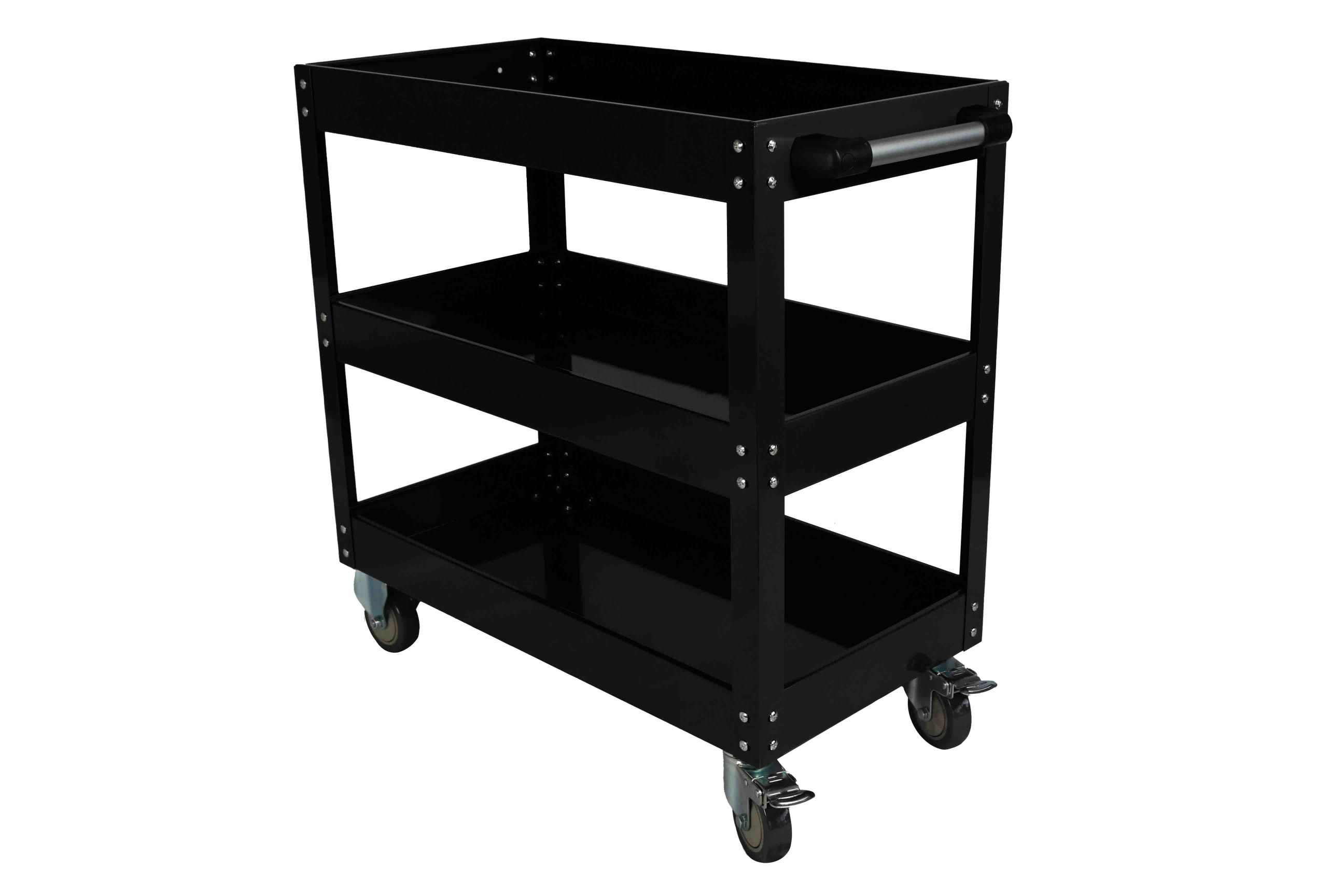 New ESSupplier Bigger & Wider Tool Trolley Cart Storage  Black