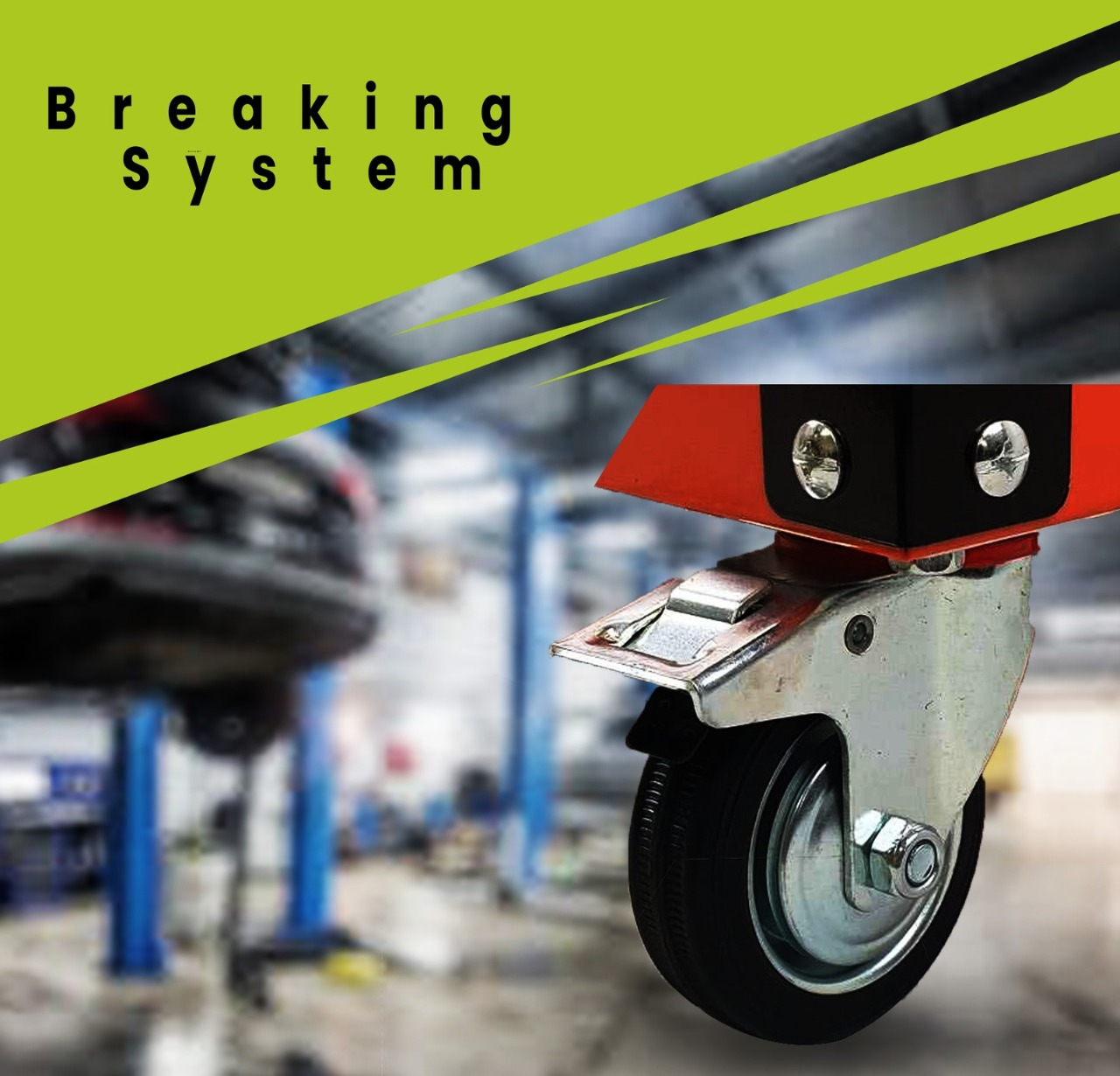 3-Tier Steel Tool Cart With Lock Drawer & Lockable Castors Mechanic Trolley