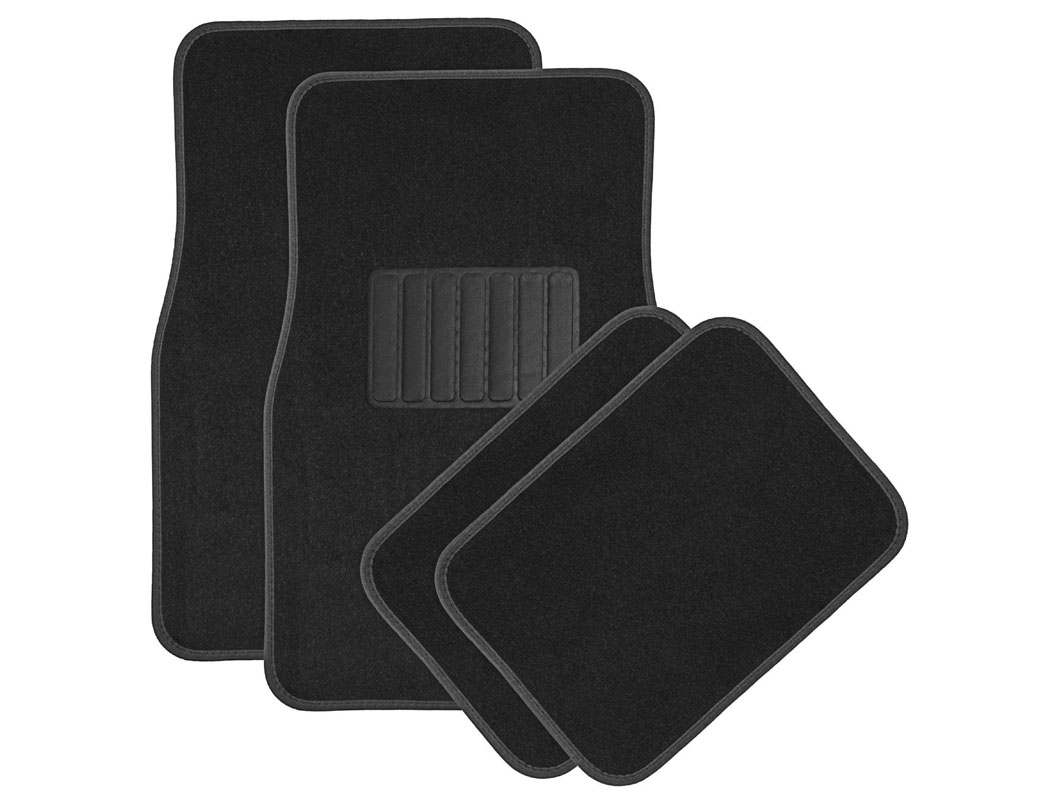 High Quality Universal Car Floor Mats - Carpet, Black, Set of 4