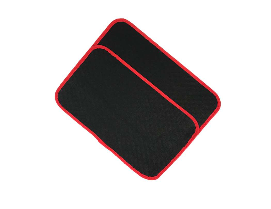 Universal Black With Red Line, set of 4