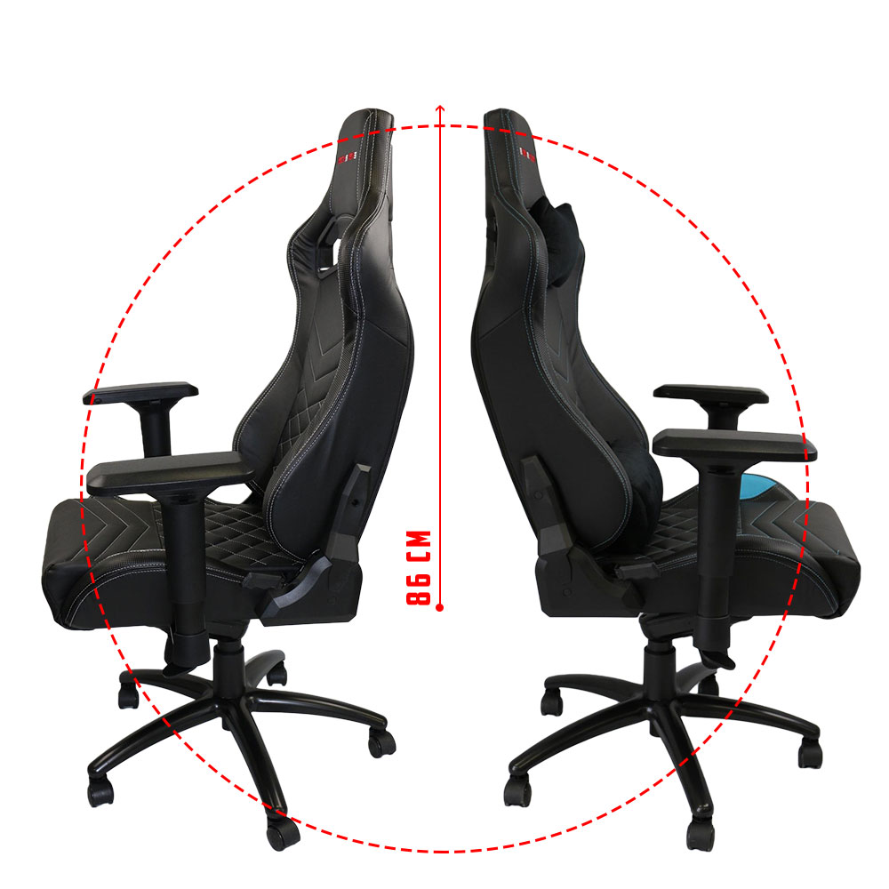Latest Blue PU Leather Office Desk Gaming Chair - Alpha-R2